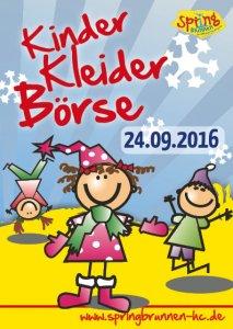 Plakat Kleiderbörse Sept2016
